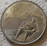 Moneda 2 LIRE - SAN MARINO, anul 1976 *cod 5245 UNC - FOTBAL, Europa, Aluminiu