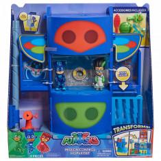 Set de joaca cu 2 figurine (Pisoi si Romeo) Pj Masks - Centrul de comanda