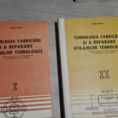 Tehnologia fabricarii si a repararii utilajelor tehnologice, 2 volume – Vasile Bejan