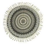 Covor decorativ Boho Style, 70 cm, model mandala