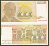 = IUGOSLAVIA – 500 000 DINARA – 1994 – UNC   =