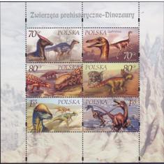 Polonia, preistorie, dinozauri, reptile, 2000, MNH