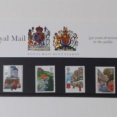 Timbre Anglia 1985 -350 Ani de Serviciu Pentru Public In Folie De Prezentare MNH