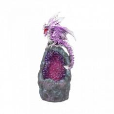 Statueta cu led dragon Gardianul Cristalului de Ametist