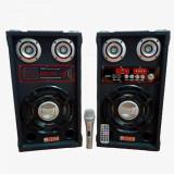 Cumpara ieftin Set 2 boxe profesionale active, BLUETOOTH, RADIO, USB, Karaoke, Microfon + , Telecomanda Cadou