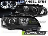 Faruri compatibile cu BMW Seria 3 E46 04.99-03.03 Coupe Angel Eyes Negru
