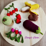 Set 11 legume si fructe de jucarie din bumbac
