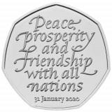 Moneda jubiliara Anglia - 50 pence 2020 - BREXIT - UNC, Europa, Cupru-Nichel