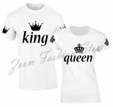 Set de tricouri albe KING/QUEEN ARM COD ST905