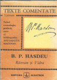 B.P. Hasdeu - Razvan si Vidra ( texte comentate )