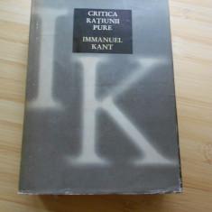 IMMANUEL KANT--CRITICA RATIUNII PURE
