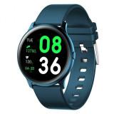 Cumpara ieftin Ceas Smartwatch Techstar® KW19 Albastru, 1.3 inch HD Rotund, Monitorizare Cardiaca, Tensiune. Oxigenare, Bluetooth 4.0