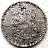 FINLANDA , 1 MARKKA 1950 S , FIER !!! VARIANTA II Round needles., Europa