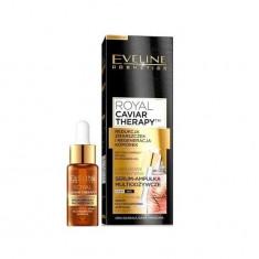 Ser multihranitor pentru fata, Eveline Cosmetics, Royal Caviar, 18 ml