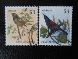 NOUA ZEELANDA-PASARI-SERIE COMPLETA-STAMPILATE
