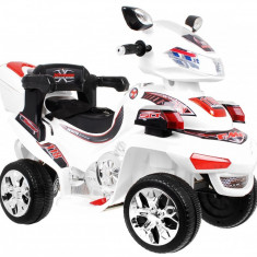 Motocicleta electrica Cu Telecomanda cu patru roti F918, alb