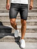 Pantaloni scurți denim negri Bolf KK1072
