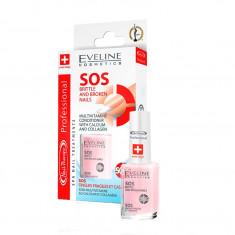 Tratament SOS pentru unghii rupte si fragile, Eveline Cosmetics 12 ml
