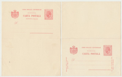 1900 ROMANIA Spic de Grau 10b intreg postal dublu neuzat, stare FB foto