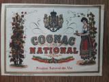 Eticheta regalista litografiata pentru COGNAC NATIONAL / C1DP