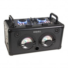 Boxa portabila Ibiza, mixer incorporat, Bluetooth, 2 x USB, 200W