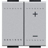 Variator de tensiune cu comanda tactila 600W Living Light Bticino 2M ,culoare aluminiu NT4408N