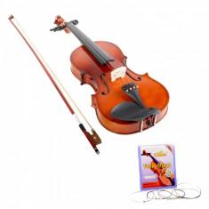 Set vioara clasica din lemn 1 8 toc inclus si set corzi