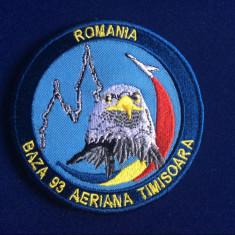 Efecte Militare - Emblemă textilă - Patch militar - Baza 93 Aeriană Timișoara