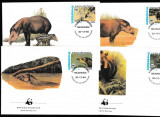 Nicaragua - Fauna WWF  - 4 FDC