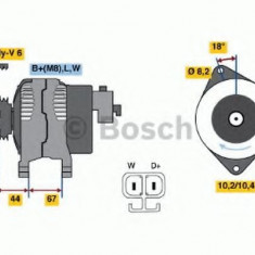 Generator / Alternator HONDA CIVIC VII Hatchback (EU, EP, EV) (1999 - 2006) BOSCH 0 986 043 981
