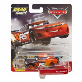 Disney Cars XRS - masinuta metalica de curse personajul Nitroade, Mattel