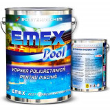 "Pachet Vopsea Poliuretanica Piscina ""Emex Pool"" - Verde - Bid. 4 Kg + Intaritor - Bid. 0.8 Kg"