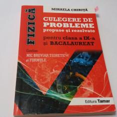 FIZICA CULEGERE DE PROBLEME PROPUSE SI REZOLVATE PENTRU CLASA A IX-A MIHAELA CHI