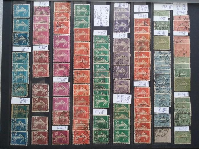 1903-1939-Franta-Semanatoarea-255 timbre-stampilat-Y.T.=1100$-RAR