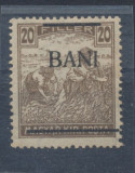 1919 Romania emisiunea privata Ineu 20 Bani seceratori neuzat fara sarniera