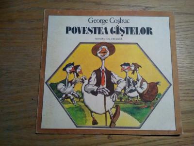 POVESTEA GISTELOR - George Cosbuc- VASILE OLAC (ilustratii) -  1989 foto