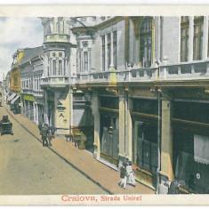 4603 - CRAIOVA, Unirii street, Romania - old postcard - used - 1912, Circulata, Printata