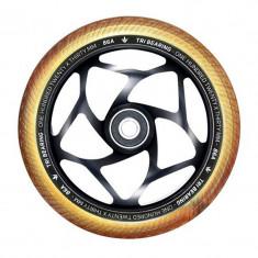 Roata Trotineta Blunt 120mm x 30mm Tri Bearing Black/Gold