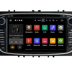 Navigatie Gps Android Ford Mondeo Focus S Max Transit Tourneo , 2GB RAM +16GB ROM, Internet , 4G , Aplicatii , Waze , Wi Fi , Usb , Bluetooth , Mirro