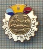 """Y 774 INSIGNA -PIONIERI - ,,MICUL TEHNICIAN"""" -PENTRU COLECTIONARI"""