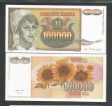 IUGOSLAVIA  100.000  100000  DINARI  1993  UNC  [1]  P-118 a , necirculata