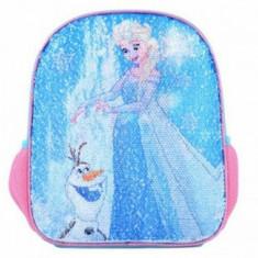 Ghiozdan mic cu paiete reversibile Frozen
