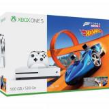 Consola Microsoft Xbox One Slim 500GB, Alb + Forza Horizon 3 + Hot Wheels Expansion