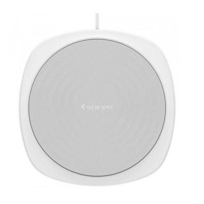Incarcator Universal Inductie Waterproof Spigen F305W Wireless Fast Charger 9W QC 3.0 White foto