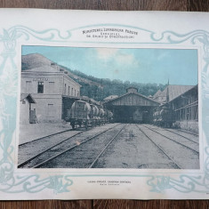 Plansa Gara Doftana Calea ferata Câmpina Doftana