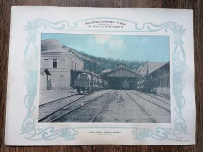 Plansa Gara Doftana Calea ferata Câmpina Doftana foto