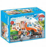 Playmobil City Life, Rescue - Ambulanta cu lumini intermitente