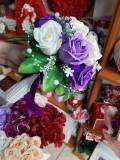 Buchete mireasa / nasa cu trandafiri de sapun preturi incepand de la 80 lei