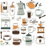 Sticker bucatarie Cafea 60x60 cm