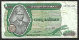 Republica Zair - 5 zaires - 1977 (B0164) - starea care se vede
